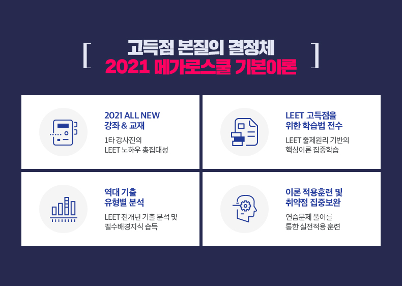고득점 본질의 결정체 2021 메가로스쿨 기본이론
